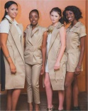 Beautiful Model Management ladies launching the Chic Street/AWARE clothing line